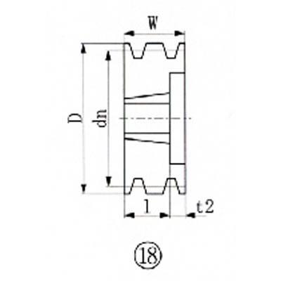 エバオン(株) EVN ブッシングプーリー SPB 195mm 溝数3 SPB195-3 SPB195-3 SPB195-3 1個【380-6308】 b18