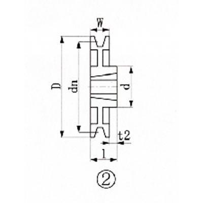 エバオン(株) EVN ブッシングプーリー SPZ 300mm 溝数1 SPZ300-1 1個【380-7207】