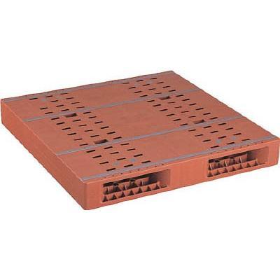 【送料無料】NPC プラスチックパレットZR−1111E 両面二方差し ブラウン ZR-1111E-BR 1枚【代引不可・メー直】【北海道・沖縄送別】