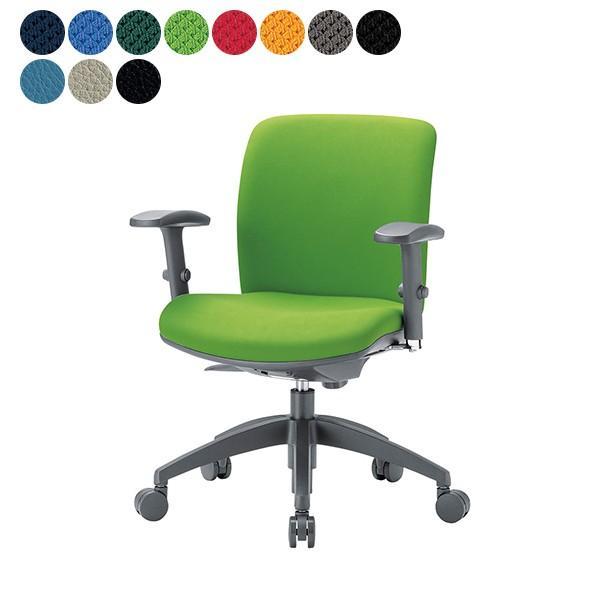 事務椅子 事務椅子 ローバック 可動肘タイプ オフィス チェア OA-2115AJ W610×H800〜 3台以上で更にお安く 送料無料