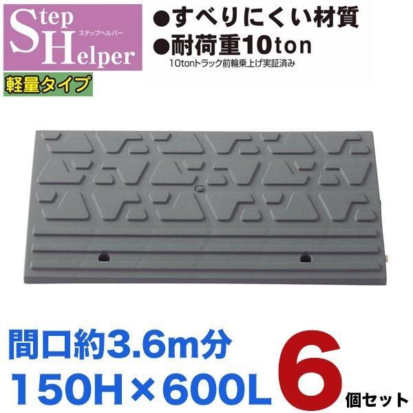 【6個セット送料無料】カーステップ 150H×600L スタンダード 間口3.6m分