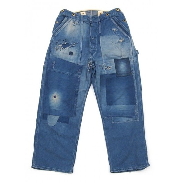 見事な創造力 【H.UNIT pants STORE LABEL】Denim painter side side open painter pants (Customize), コロモガワムラ:0314cf3b --- lighthousesounds.com