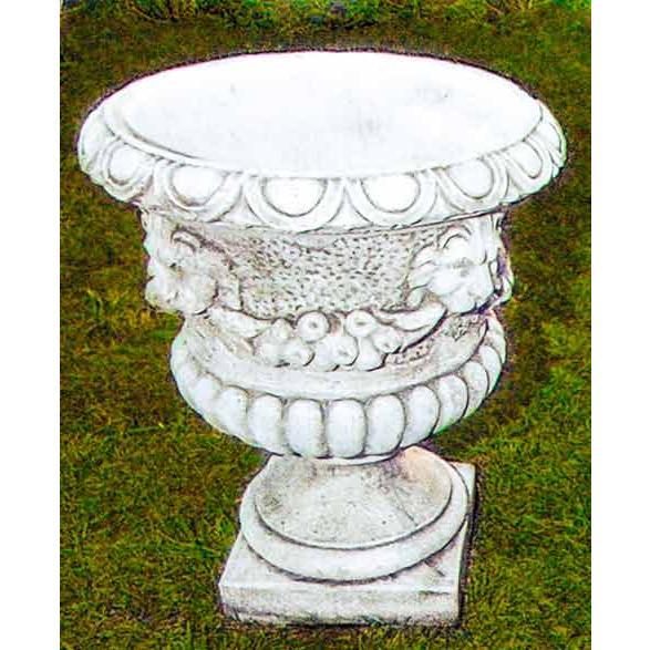イタリア製人造大理石プランター レオーネ Art.1022 PapiniAgostino 白セメント 花鉢 カップ型 イタルガーデン社