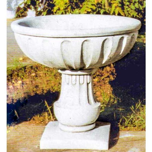 イタリア製人造大理石プランター グレカ Art.1057 PapiniAgostino 白セメント 花鉢 カップ型