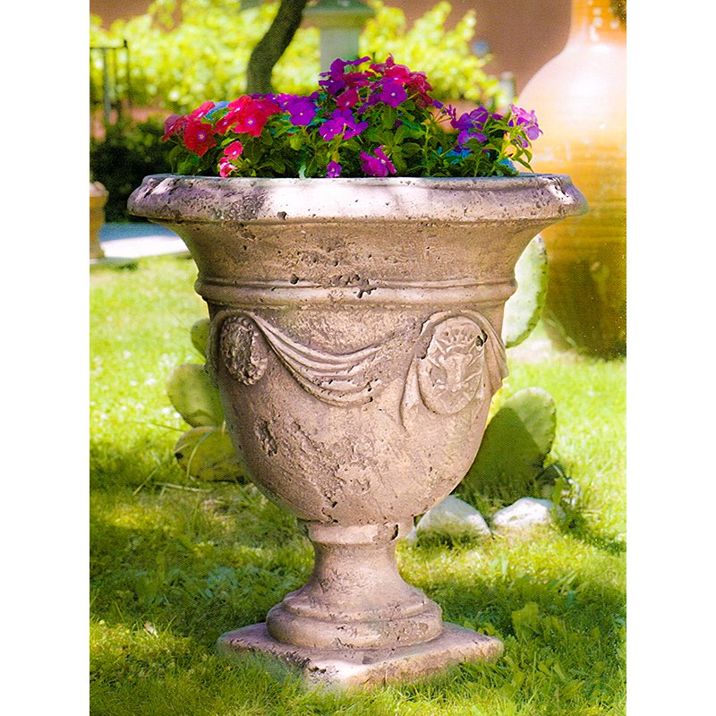 イタリア製人造大理石プランター ティツィアーノ クラシック Cod.14 2265 Italgarden 花鉢 カップ型 イタルガーデン社