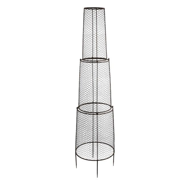 アイアン オベリスク PT-11-34M バラ 花のタワーを楽しむ DIYで簡単仕立て ガーデニング用品の通販