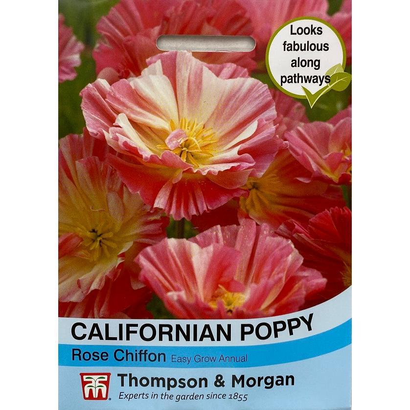 輸入種子】 Thompson & Morgan Californian Poppy Rose Chiffon ...