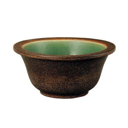 信楽焼 睡蓮鉢 窯肌富士型水鉢 38.5cm (SG-SA100-5)