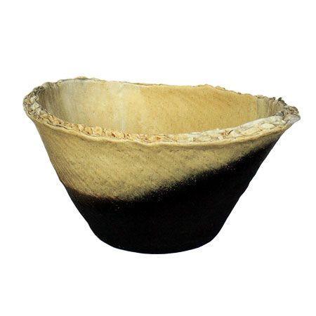 信楽焼 睡蓮鉢 窯変小判型水鉢 60cm (SG-9056-01)