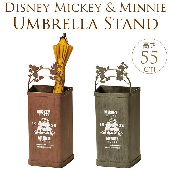 ミッキー ミニー 傘立て アンティーク スチール スチール アンブレラスタンド Disney ミッキーとミニーのスチール缶傘立て