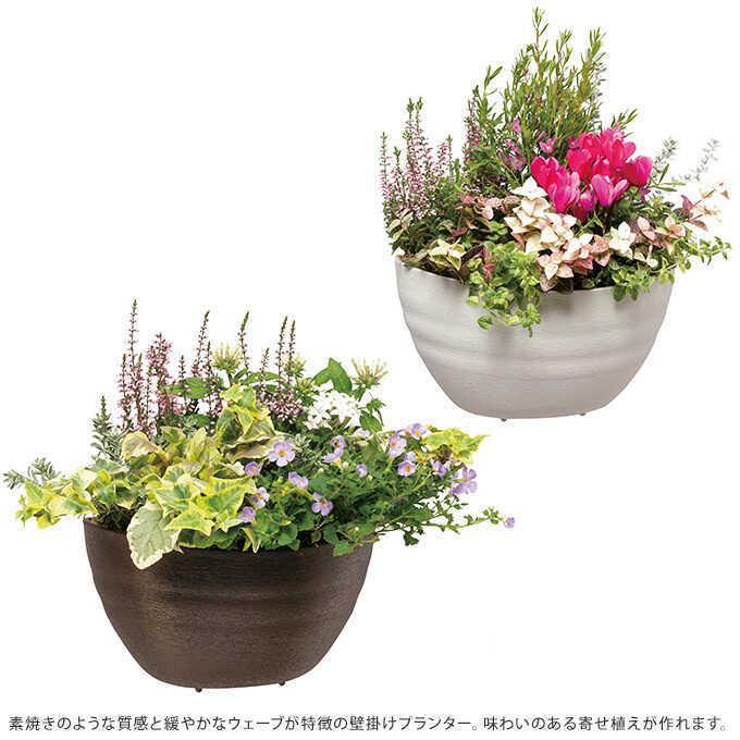 壁掛け プランター プラ鉢 28型  ウォール 鉢 プラスチック 軽量 屋外 ガーデニング 軽い|gardenyouhin|02