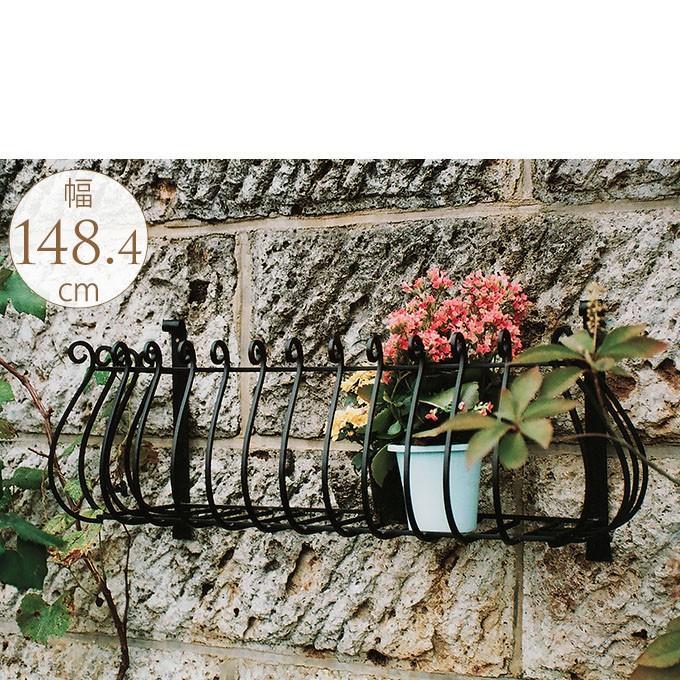 壁掛け アイアン 雑貨 ガーデニング ガーデニング雑貨 アンティーク 花台 壁掛けフラワーバルコニー Lサイズ