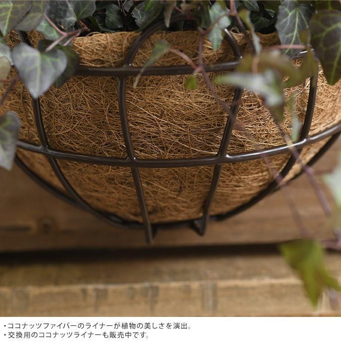 アイアン 壁掛けプランター ココヤシマット付き 幅25cm ブラック おしゃれ 洋風 ウォールプランター gardenyouhin 03