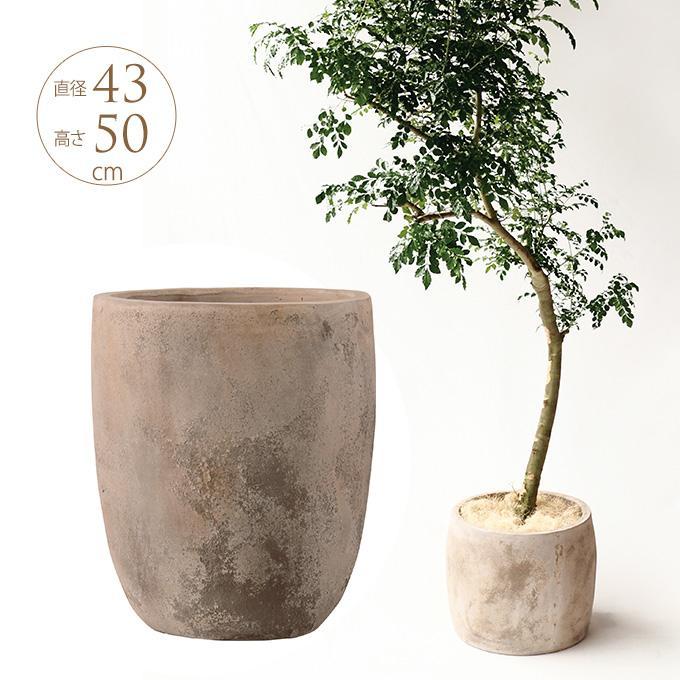 大きい 鉢 テラコッタ プランター 自然 ナチュラル アンティーク 素朴 植木鉢 自然と調和するプランター アルトエッグ 直径43cm