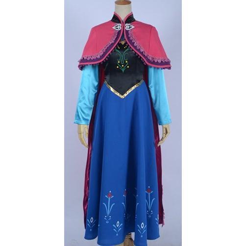 映画 ディズニー Frozen アナと雪の女王 アナ 主人公の王女 ドレス コスプレ衣装H145