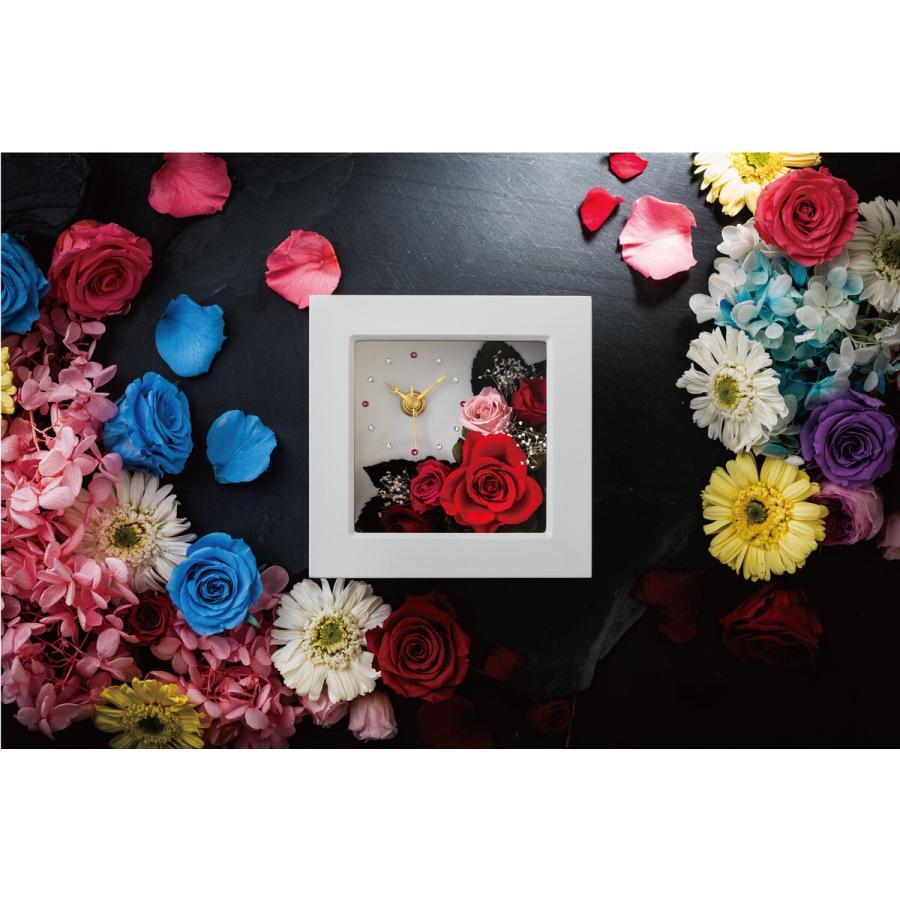2021 花 名入れ プリザーブドフラワー 時計 壁掛け 花時計 掛け時計 置き時計 赤 青 結婚祝い 刻印 誕生日 お祝い ギフト プレゼント 敬老の日 孫 おばあちゃん garlandstore 02