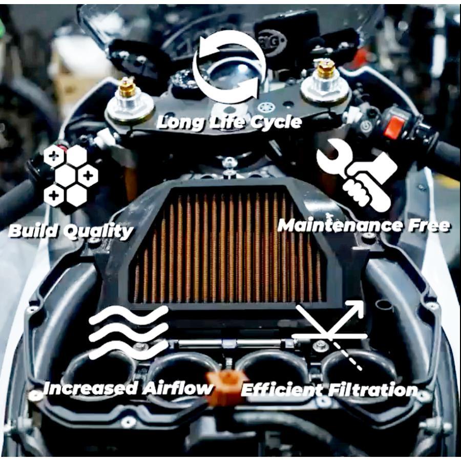 SPRINT FILTER【S1052S】日産 GT-R (R35) 用 純正交換タイプ乾式エアフィルター (1台分=2個set)|garudaonlinestore|08