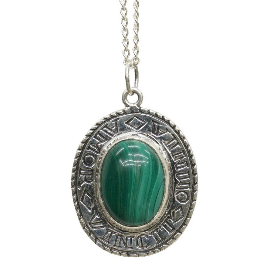 【★超目玉】 LHN Jewelry(エルエイチエヌ ジュエリー) ハンドメイド Amor ネックレス x シルバー x マラカイト(孔雀石) ジュエリー) 米国製 米国製 メンズ レディース silver necklace Malachite, Brand K:5fc32766 --- airmodconsu.dominiotemporario.com