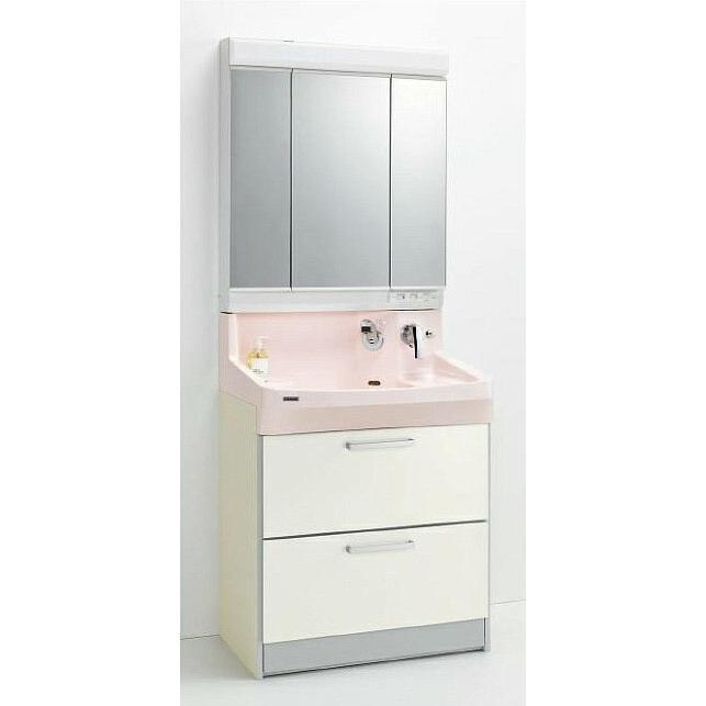 *クリナップ*ファンシオ 洗面化粧台セット 洗面化粧台セット 間口75cm M-753PF+BPF[H/L]75FMY オールスライドタイプ