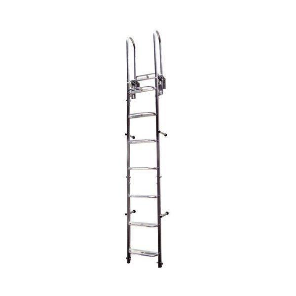 掘削構内専用アルミ製はしご 垂直アルミステップ 標準セット 2.4m ホーシン [個人宅宅配不可]