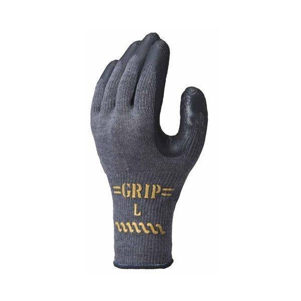 天然ゴム製背抜き手袋 グリップカーボン (120双入) NO318 ショウワグローブ