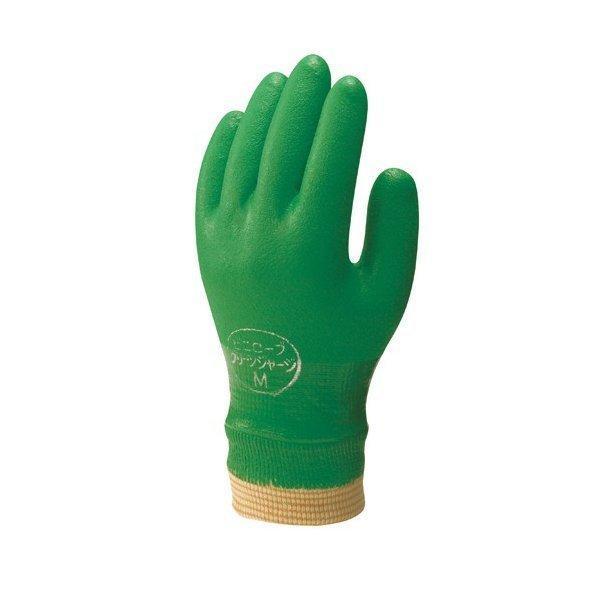 抗菌防臭裏布付手袋 グリーンジャージ (120双入) NO600 ショウワグローブ