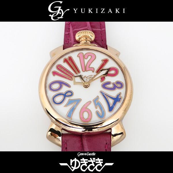 【受注生産品】 ガガミラノ マヌアーレ 40mm 5021.1 ホワイト文字盤 レディース 腕時計 新品, 【まとめ買い】 4f5c713c