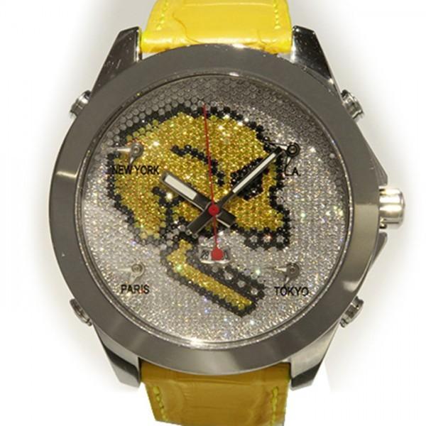 超可爱 ジェイコブ ファイブタイムゾーン スカル JC-SKULL2 全面ダイヤ文字盤 メンズ 腕時計 新品, ニシカタマチ 621aac4d