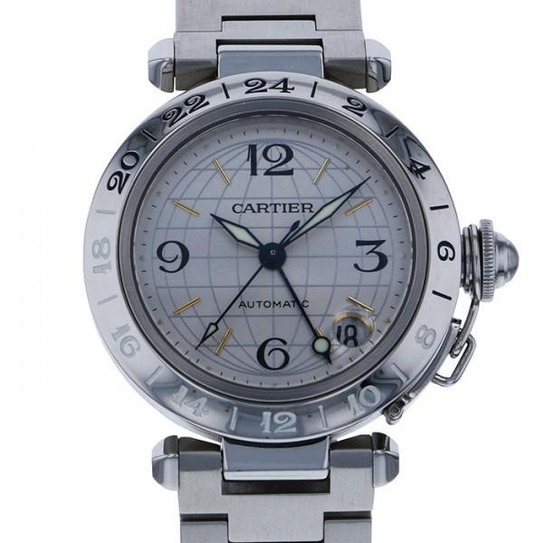 大特価 カルティエ シルバー文字盤 W31029M7 パシャ C メリディアン GMT W31029M7 シルバー文字盤 メンズ GMT 腕時計, ミヤザキムラ:2b5fa418 --- airmodconsu.dominiotemporario.com