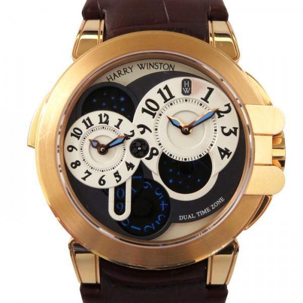 【在庫一掃】 ハリー・ウィンストン オーシャン デュアルタイム 400-MATZ44R(OCEATZ44RR001) シルバー/グレー文字盤 メンズ 腕時計, 湯田町 961faeb4