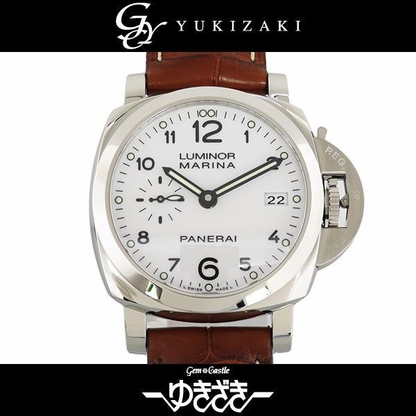【大特価!!】 パネライ ルミノール マリーナ 1950 3デイズ オートマティック PAM00523 ホワイト文字盤 メンズ 腕時計 新品, フロアーズ 5218de8b