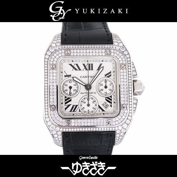 割引クーポン カルティエ WM500651 サントス クロノ 100 クロノ 腕時計 WM500651 ホワイト文字盤 メンズ 腕時計, 日本製下着通販肌着ソムリエ:605b07a9 --- airmodconsu.dominiotemporario.com