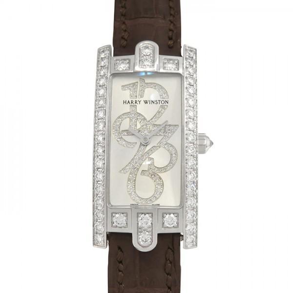 本物 ハリー・ウィンストン アヴェニュー Cミニ 332LQWL.WD/D3.1 ホワイト文字盤 レディース 腕時計 新品, オヂヤシ 629b42d2