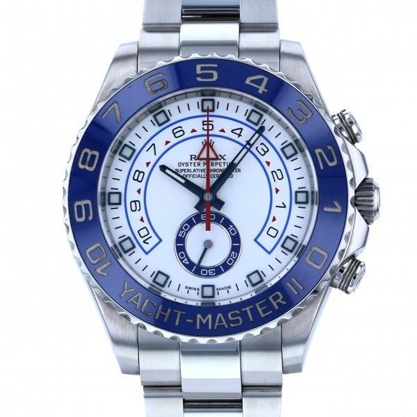 【あすつく】 ロレックス ヨットマスター II 116680 腕時計 ホワイト文字盤 メンズ II メンズ 腕時計, 継手マート:e43c2b96 --- airmodconsu.dominiotemporario.com