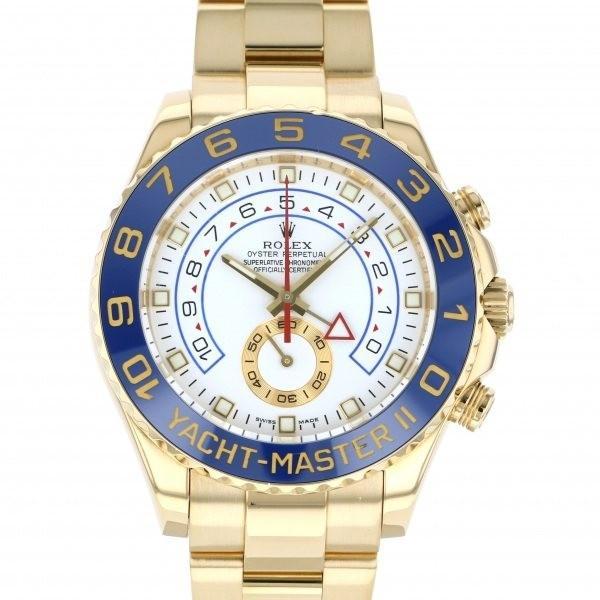 バーゲンで ロレックス ヨットマスター II 116688 ホワイト文字盤 メンズ 腕時計, ムラマツマチ 76d13f45