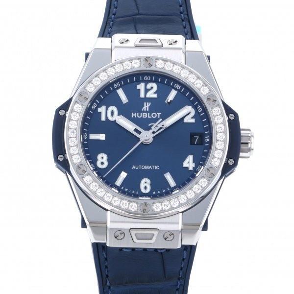 人気の ウブロ ビッグバン ワンクリック スチール ブルー ダイヤモンド 465.SX.7170.LR.1204 ブルー文字盤 レディース 腕時計 新品, リフィール df4f97a8