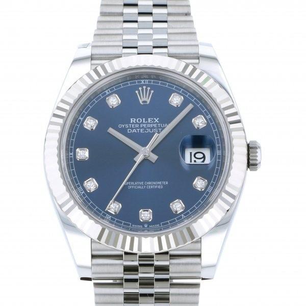 オープニング 大放出セール ロレックス デイトジャスト 41 126334G ブルー文字盤 メンズ 腕時計 新品, 和すいーつ hatahata c97d6808