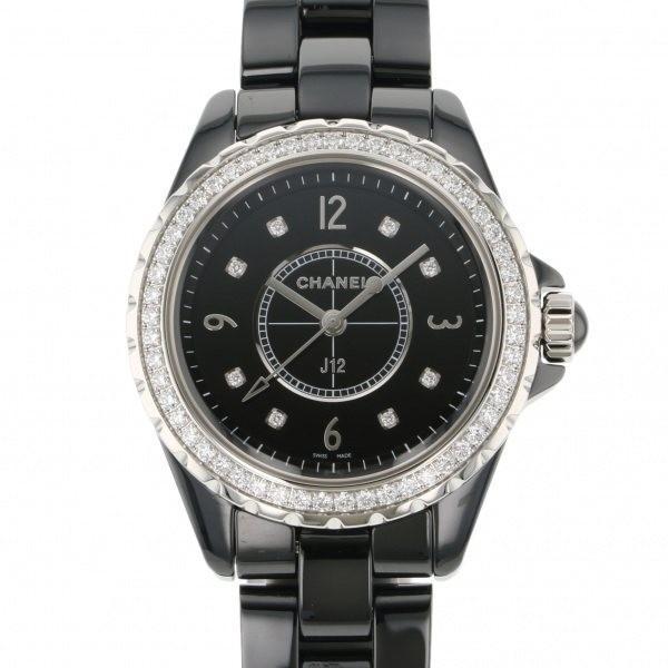 上質で快適 シャネル J12 H3108 ブラック文字盤 レディース 腕時計 新品, 栖本町 9e6b0f4e