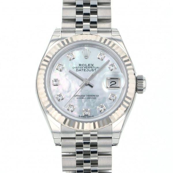 日本最級 ロレックス デイトジャスト 28 279174NG ホワイト文字盤 レディース 腕時計 新品, 介護オフ 246c2a98