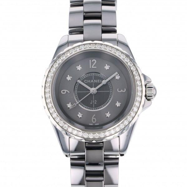 【人気ショップが最安値挑戦!】 シャネル J12 H2565 グレー文字盤 レディース 腕時計 新品, カーマニアNo.1 ff35075c