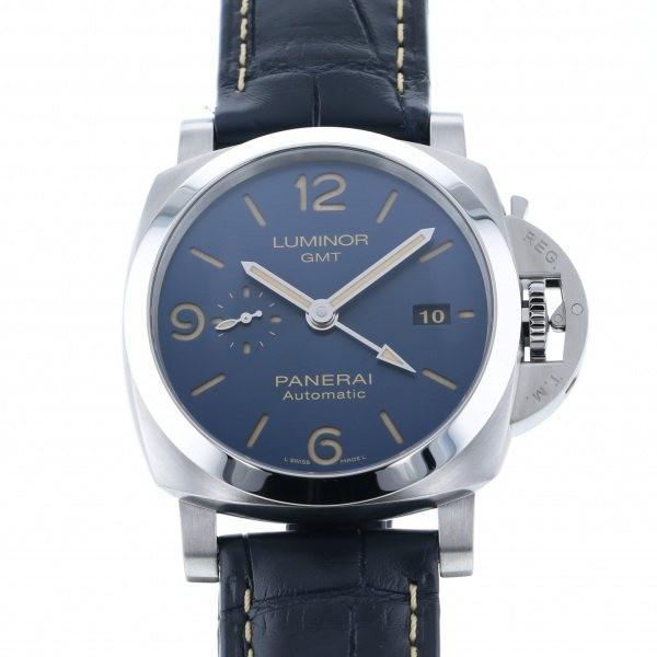 【誠実】 パネライ ルミノール GMT PAM01033 ブルー文字盤 メンズ 腕時計 新品, 中島村 3a5902cc