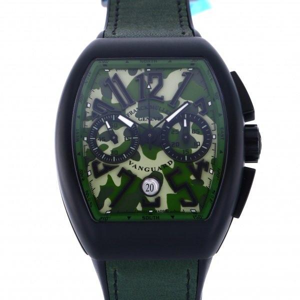 格安販売中 フランク・ミュラー ヴァンガード カモフラージュ クロノグラフ V45SC DT TT NR グリーンカモフラージュ文字盤 メンズ 腕時計 新品, 相良村 a2f9180f