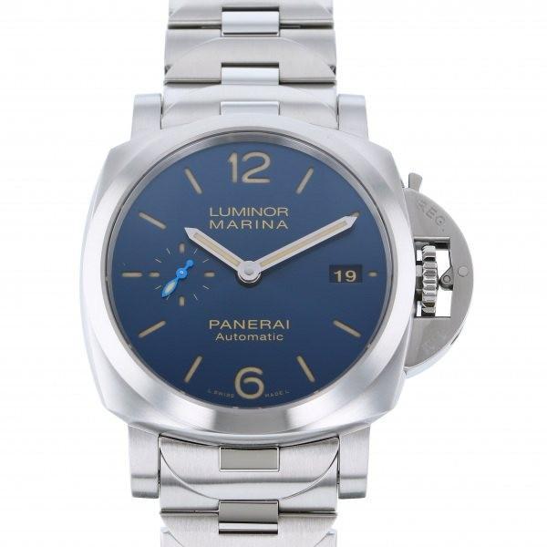 代引き人気 パネライ ルミノール マリーナ PAM01028 ブルー文字盤 メンズ 腕時計 新品, 根羽村 c52d3013