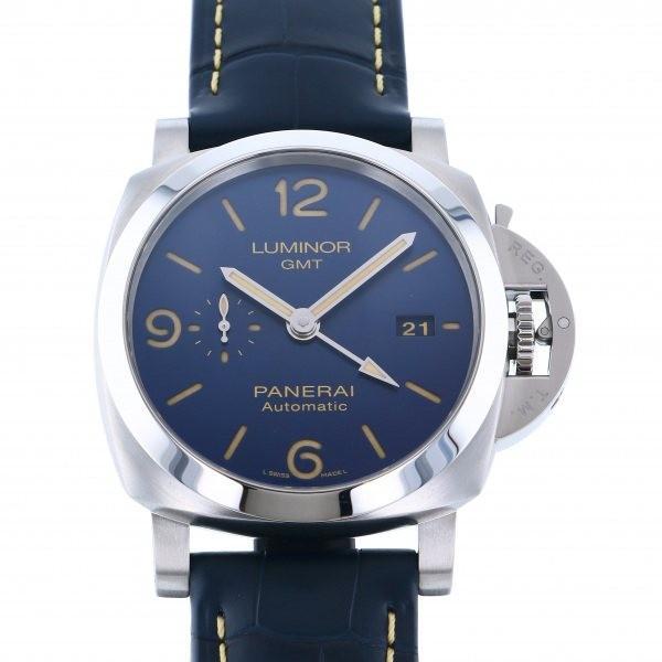 人気TOP パネライ ルミノール GMT PAM01033 ブルー文字盤 メンズ 腕時計 新品, カガワグン b27a7878