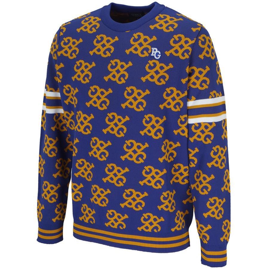 特価 パーリーゲイツ PEARLY GATES モノグラム 長袖セーター, アウトレットファニチャー 0e0d0a19