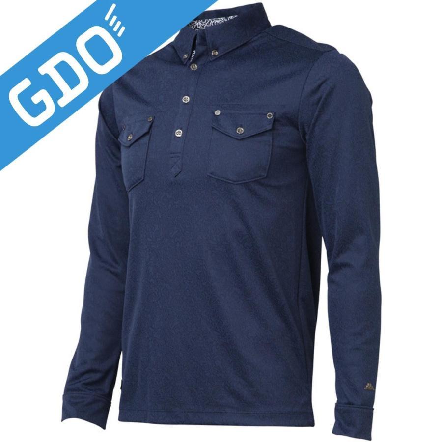 カッパ Kappa ITALIA ペイズリージャガード長袖シャツ KG512LS12 長袖シャツ・ポロシャツ