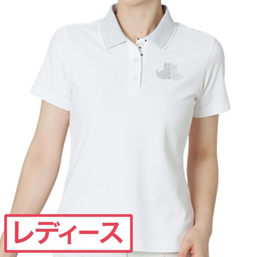 ブラック&ホワイト Black & White ゴルフウェア レディス 半袖シャツ・ポロシャツ 半袖ストレッチポロシャツ 9705LS-XA 半袖シャツ・ポロシャツ