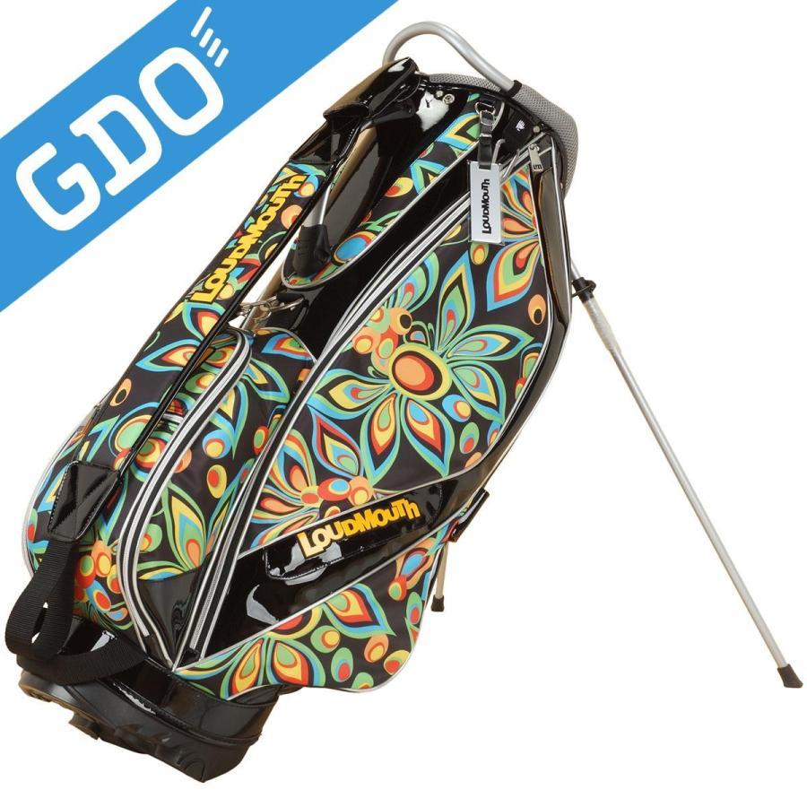 ラウドマウスゴルフ Loud Mouth Golf 9インチスタンドキャディバッグ シャガデリックブラック キャディバッグ