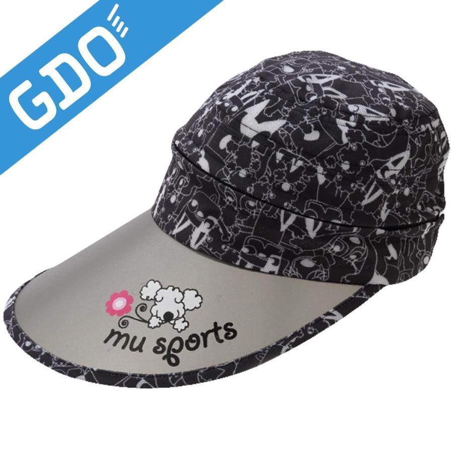 MUスポーツ M.U SPORTS サンバイザーキャップ 701V3700 レディス 帽子