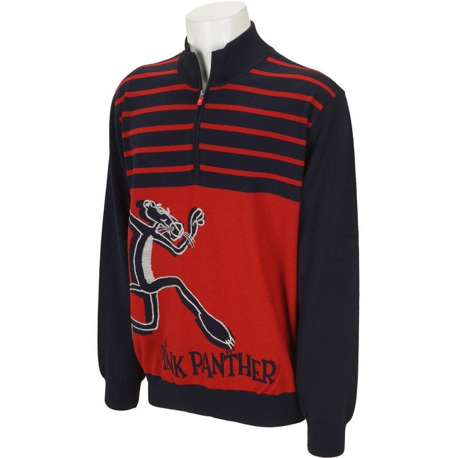 カステルバジャック CASTELBAJAC PP手刺繍+ジャカードハーフジップセーター
